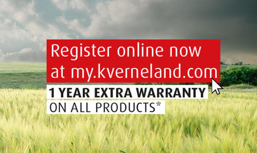 Get the most out of the purchase of your new Kverneland machine!